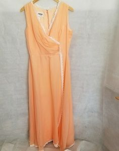 1950s Coco California Pale Peach Party/Prom Dress